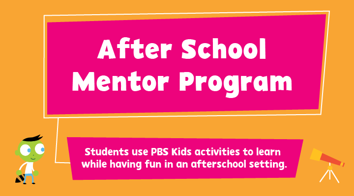 Students use PBS Kids to learn while having fun in an after school setting.