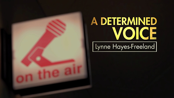 A Determined Voice Logo