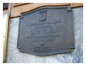 Cafe Gijon sign