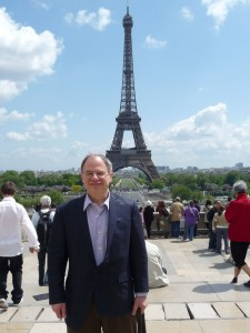 Jim Cunningham with the Eiffel Tower