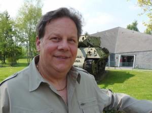 Percussionist John Soroka at the Bastogne Historical Center