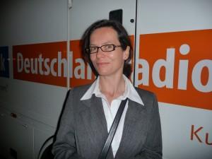Mitteldeutsche Rundfunk's Isobel Roth, host for the PSO's broadcast in Dresden