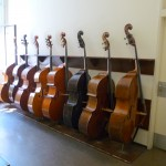 Vienna Philharmonic basses stand ready