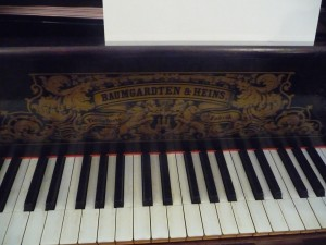Brahms' piano at the Brahms Museum