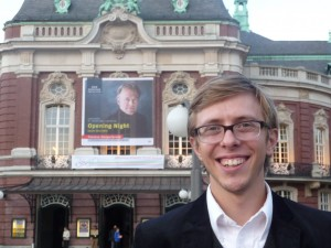 Michael Pegher outside the Laeiszhalle