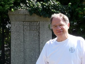 Jim Cunningham at Mahler's grave