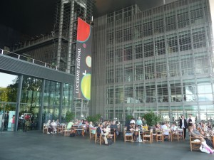 Outdoor café at the Culture and Congress Center, Lucerne