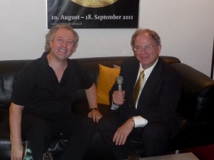 Manfred Honeck backstage in Lucerne