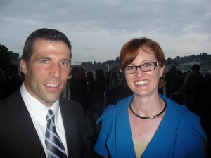 BNY Mellon's Chris Porter with the PSO's Lizz Helmsen