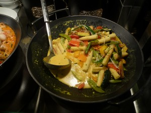 Burmese stir-fry at the World Café