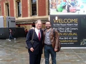 With Jonathan Mayes at the Royal Albert Hall