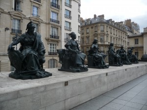 Bronze guardians of the Musee d'Orsay