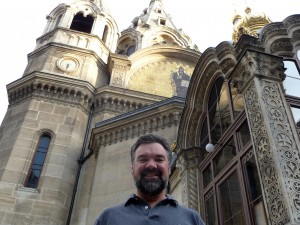 Jeffrey Turner at Alexander Nevsky Cathedral in Paris