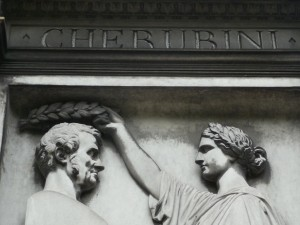 Luigi Cherubini's memorial at Pere Lachaise in Paris