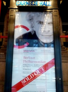Berlin Philharmonic poster at Carnegie Hall