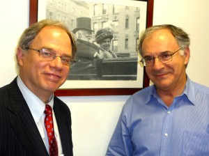Jim Cunningham with Carnegie Hall Executive and Artistic Director Clive Gillinson