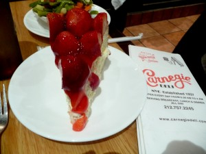 Carnegie Deli's strawberry cheesecake