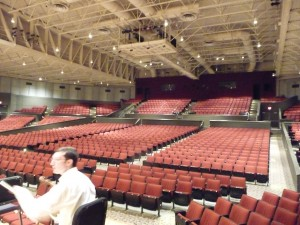 View from the Tilles Center stage