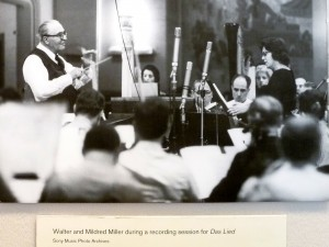 Mildred Miller Posvar with Bruno Walter conducting