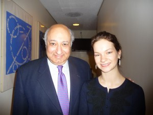 Zarin Mehta and Hilary Hahn