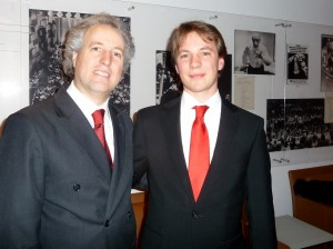 Manfred Honeck and son Joachim