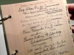 Arnold Schoenberg's address book
