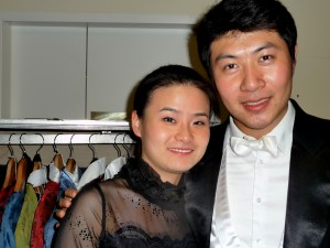 PSO violinist Shanshan Yao and violist Meng Wang