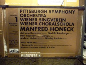 Poster at the Musikverein