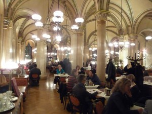 Scene at the Café Central in Vienna