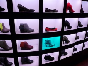 Shoe display at United Nude