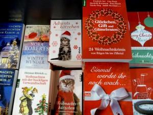 Christmas books at Hugendubel