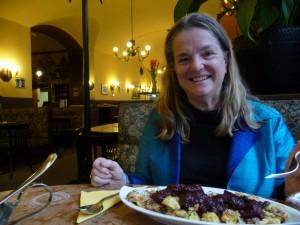 Penny Brill at Café Eiles in Vienna