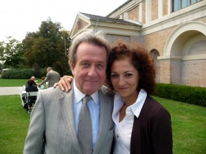 Pianist and Grafenegg Festival founder/director Rudolf Buchbinder with Media Relations Director Julia Ornetsmüller