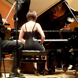 Yuja Wang's little black dress
