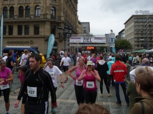 Finish line at the Alte Oper