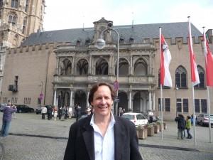 Mark Huggins at the Cologne Rathaus