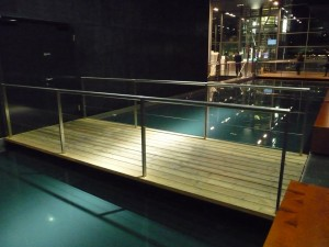 Water inside the KKL, Lucerne