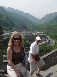 PSO musicians Betsy Heston and Neal Berntsen at the Great Wall