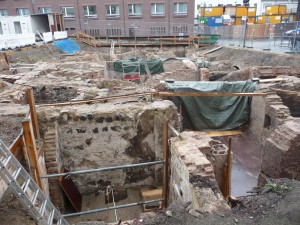 Archaeological dig in Cologne